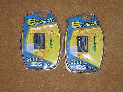 2x Rechargeable Battery Pack 2000mAh + Tool for Nintendo NDS DS Lite NDSL DSL