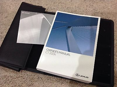 Lexus Ct 200 H Ct200H Owners Manual Handbook Pack 2010-2014