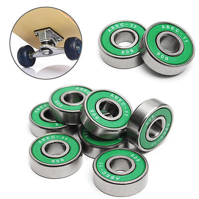 8X ABEC-11 High Performance Bearing 608RS For Scooter Skateboard Roller 22x8x7mm