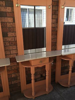 3 Hairdressing Workstation Solid Wood With Granite