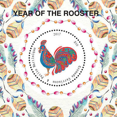 Grenada Carriacou and Petite Martinique -2017-Lunar New Year-year of rooster s/s