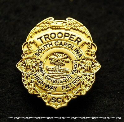 SC HIGHWAY PATROL TROOPER Badge Lapel Pin State Police SCHP Police DHPT