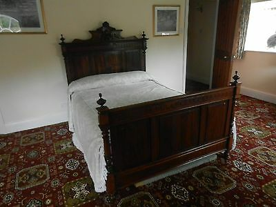 Solid Oak Antique bed in the Louis XVI style C1890