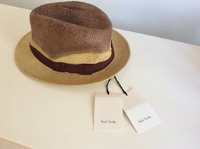 Paul Smith Panama Hat Size M Made In Italy