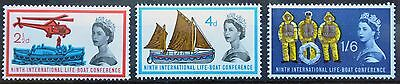 SG639-641 9th International Lifeboat Conference, 1963, MNH