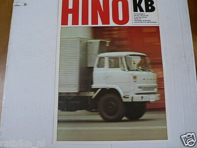 Hino Kb Truck Vrachtauto Brochure Prospekt Dutch 4 Pages 1979