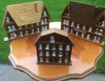54 x COLLECTABLE THIMBLES WITH DISPLAY CASES