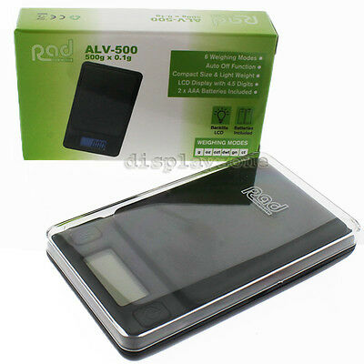 Rad ALV-500 Digital Scale 500g X 0.1g Backlite Lcd Display Pocket Scale