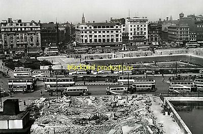 Manchester Buses post WW 2 Piccadilly Gardens bus photo print