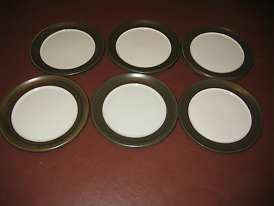 "Denby - Chevron - 6.5"" Side / Tea Plates X6 - Excellent"