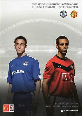 Chelsea v Manchester United 9th August 2009 Community Charity Shield Programme