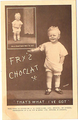 Fry's Chocolate 'Guess What I've Got' 'Hello Daddy' A W Ford & Co Ltd  Bristol