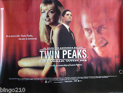 Twin Peaks Fire Walk With Me Original 1992 Quad Poster  David Lynch