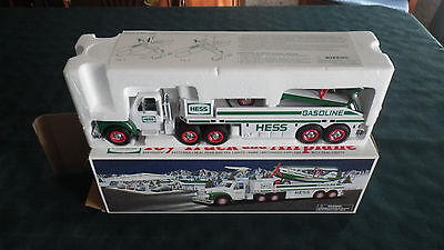 2002 Hess Toy Truck Airplane Hauler with Original Box