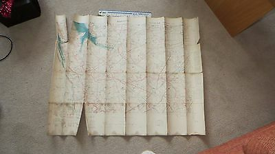 1917  WW1 Trench Map Linen-backed Ypres Flanders Bixschoote  inc Allied position