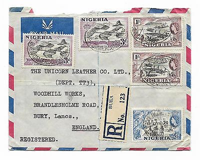 Nigeria - Used In Buea Cameroons 1955, Registered Cover To Gb