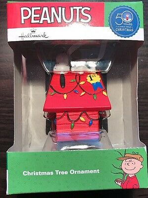50 years a Charlie Brown Christmas 2015  Snoopy on Doghouse Tree Ornament