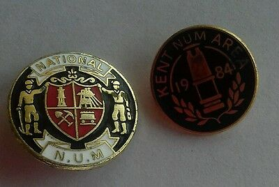 Two NUM Miners Trade Union Badges