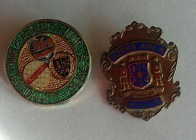 Two NUM Mining Trade Union Badges