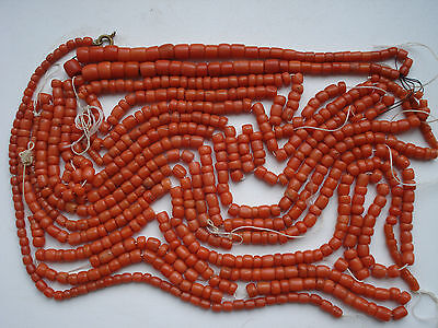 130gram Beutiful original antique undyed old natural coral beads