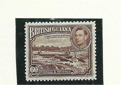 British Guiana 1938 60c Red-Brown Light Mounted Mint SG315