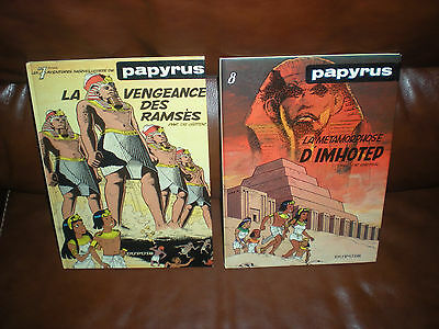 Papyrus - Lot Des Tomes 7 Et 8 En Editions Originales