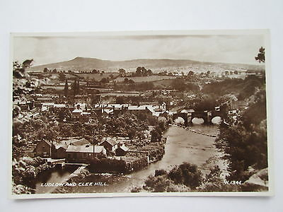 Old RP Postcard - Ludlow & Clee Hill , Shropshire .