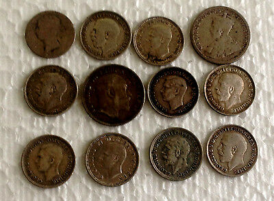 12x  silver coins  mixed  lot .925 Sterling Silver  #98