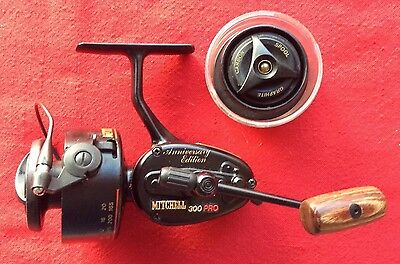 Vintage Mitchell 300 Pro Anniversary Fishing Reel - Bag And Service Kit
