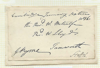GB 1836 Freefront Signed by George Pryme MP for Cambridge - Cambridge - Tamworth