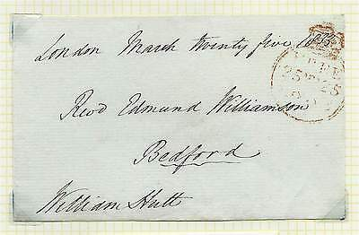 GB 1833 Freefront Signed by William Hutt MP for Kingston upon Huil to Bedford