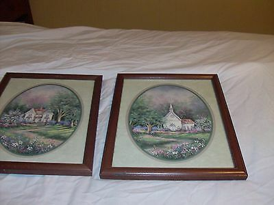 """2 home interior PICTURES HOUSE &CHURCH 12""""X15"""" VGUC"""