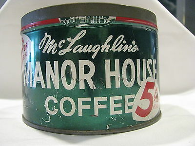 Vintage Manor House Coffee Can/Tin