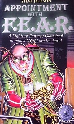 """Fighting Fantasy Gamebook """"Special Ltd Edition"""" Appointment With F.E.A.R JACKSON"""