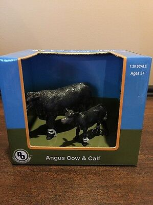 Big Country Toys Farm Animals 1:20 Figures Angus Cow/Calf