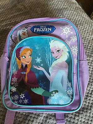 Kids Disney Frozen Rucksack. Lilac/Purple. Good Clean Used Condition.
