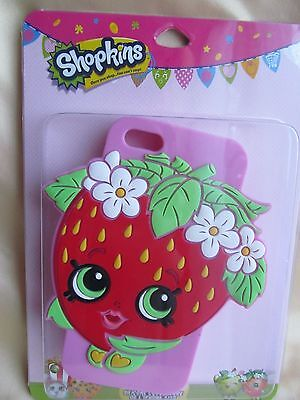 Official Shopkins Strawberry Kiss Silicone Iphone Cover Case 5/5S 5 5S New