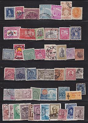 South American Joblot  Mix of over 100 different  stamps.  2 scans
