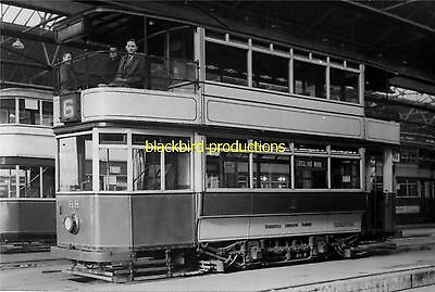 Tram Huddersfield Corp route 6 68 Depot photo print