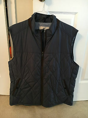 Tommy Bahama Mens Quilted Blue Vest - Size XL