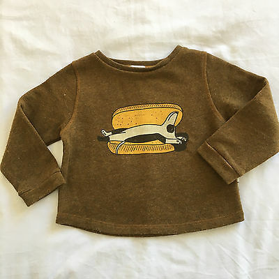 Sweat Oeuf NYC taille 2 ans Hot Dog Smallable