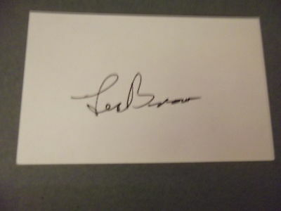American Bandleader LES BROWN hand signed card