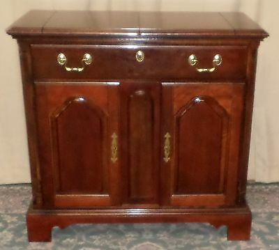 NATIONAL MT AIRY CHERRY FLIP TOP SERVER Sideboard Buffet VINTAGE