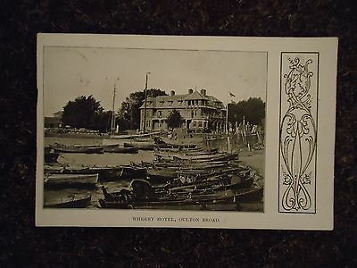 Postcard - Wherry Hotel - Oulton Broad - Norfolk 1905