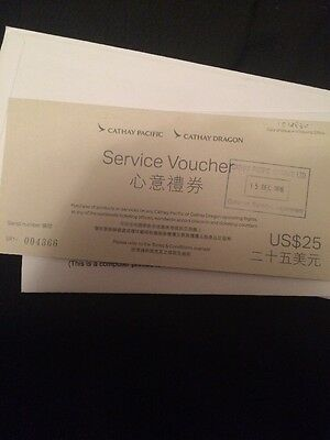 Cathay Pacific Service Vouchers