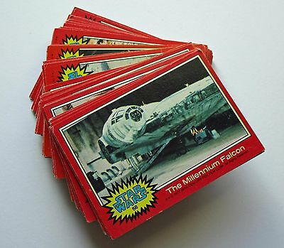 1977 Star Wars Trading Cards - Red Series - Lot  of 54 - ungraded - very good