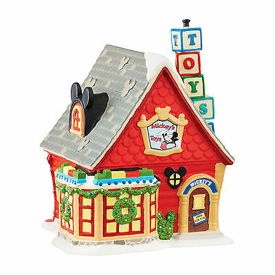 Dept 56 DISNEY Mickey Mouse Christmas Village - MICKEY'S TOY STORE 4038631 NEW !