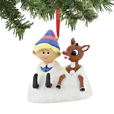 Dept 56 Rudolph The Red Nosed Reindeer & Hermey Ornament # 4045006 - CUTE!