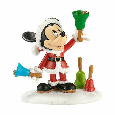 Dept 56 Disney MICKEY MOUSE Christmas Village MICKEY RINGING IN THE HOLIDAYS