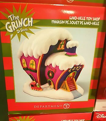 Dept. 56 THE GRINCH DR SEUSS - WHO-VILLE TOY SHOP - NEW IN BOX